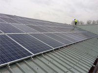 solar panels at Mr Fothergill's