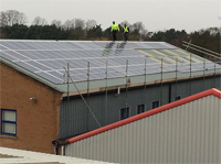 Solar install at Mr Fothergill's