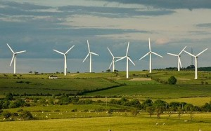 Renewable energy from wind farms