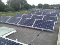 Solar panels at Merryhills School