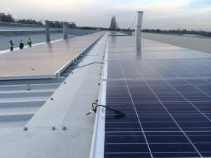 Reverse tilt commercial solar